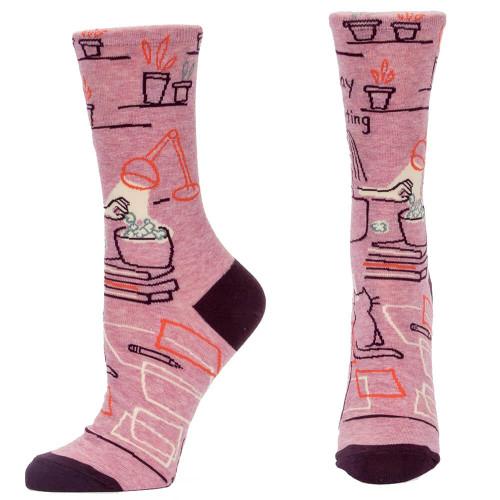 Go Away I'm Introverting Women's Crew Socks