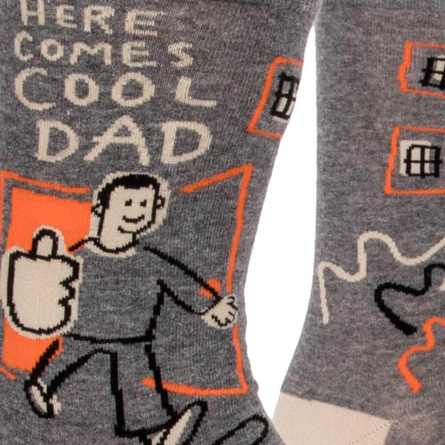 Here Comes Cool Dad Men's Crew Socks