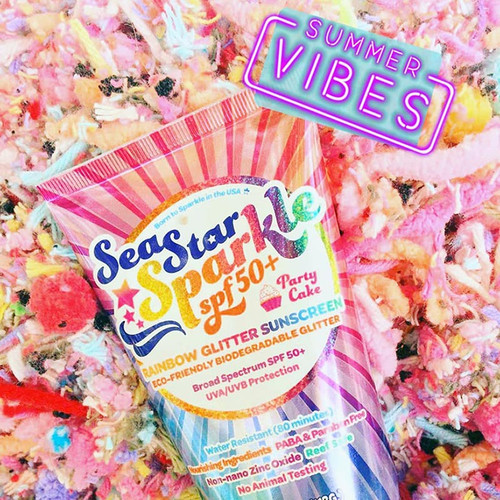 Scented Glitter Sun Tan Lotion Reef Safe