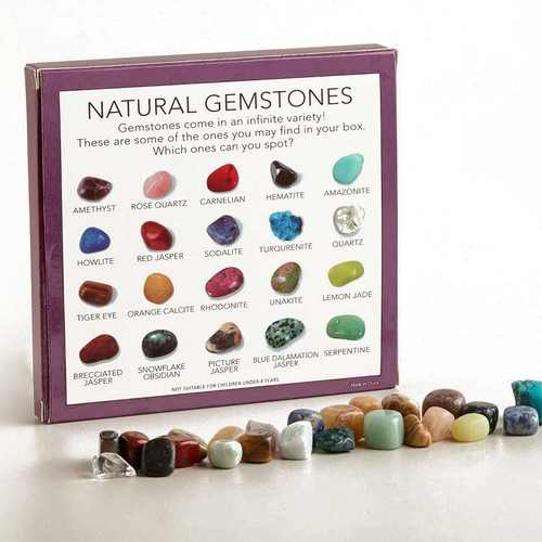Crystal + Mineral Gemstone Collection Box