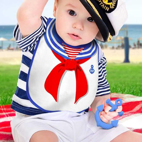 Dressed To Spill Sailor Bib + Teether Set