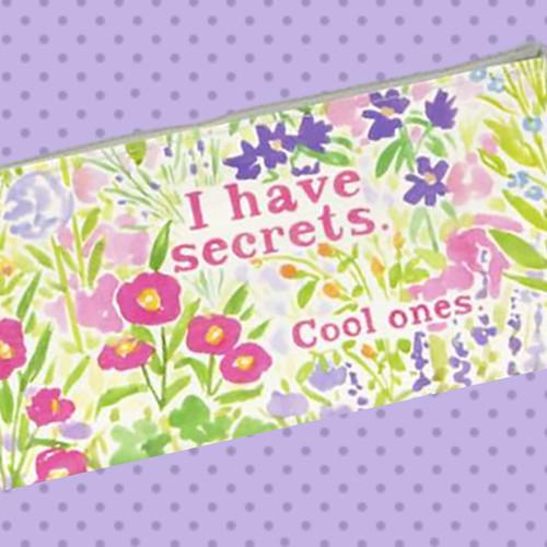 Blue Q I Have Secrets. Cool Ones. Pencil Case