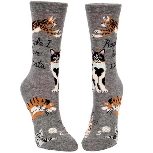 Blue A People I Love: Cats. Socks