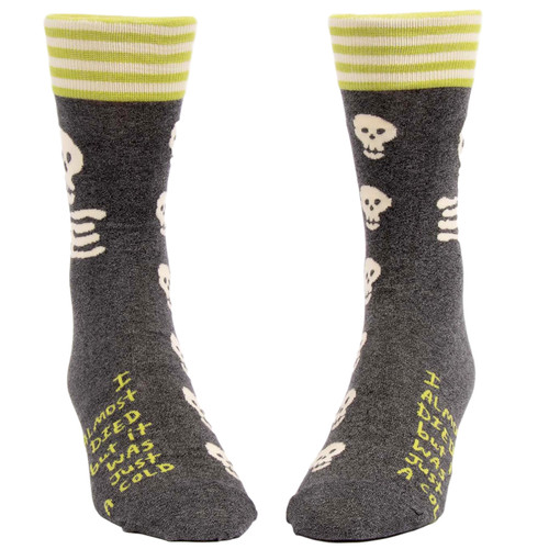 I Almost Died But It Was Just A Cold Men's Socks