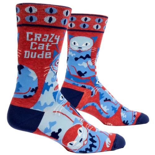 Crazy Cat Dude Men's Socks
