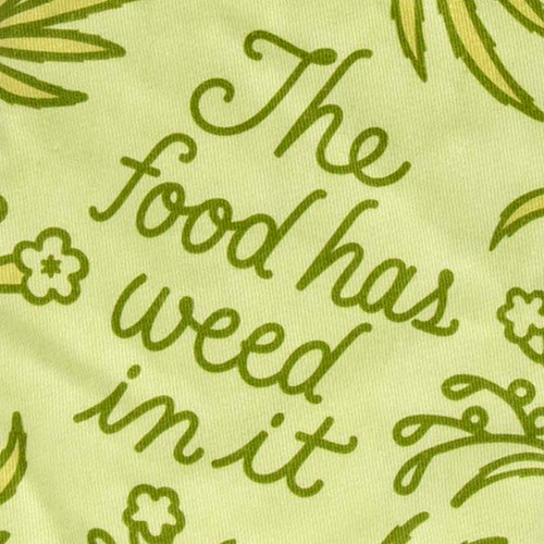 BlueQ Food Has Weed In It Oven Mitt