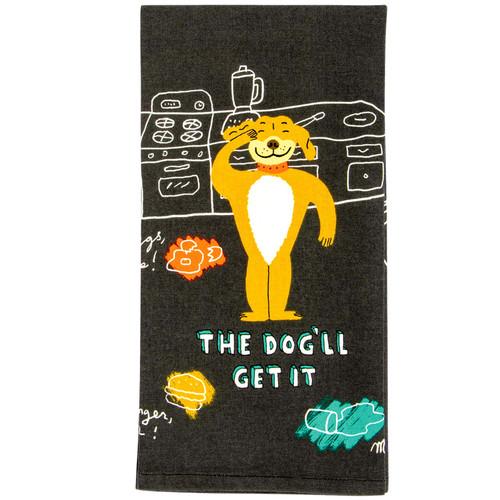 The Dog'll Get It Dish Towel