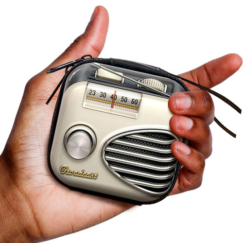 Retro Radio Headphone + Change Purse
