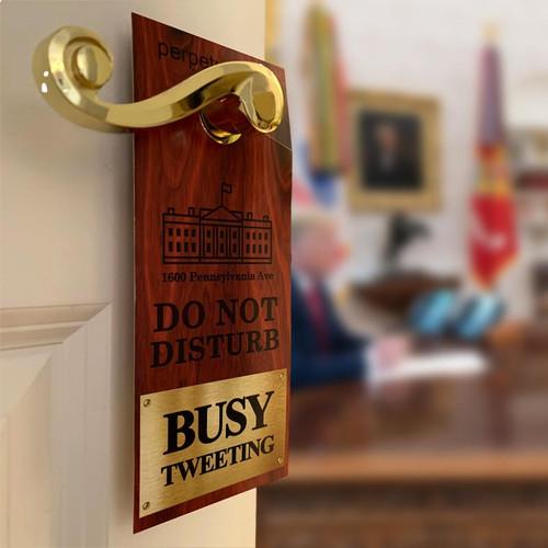 Trump #45 Motel Keychain + Door Hanger for 2020