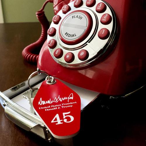 Trump #45 Keychain + Door Hanger for 2020