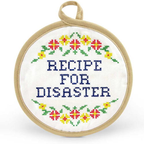 In Stitches Recipe For Disaster Potholder