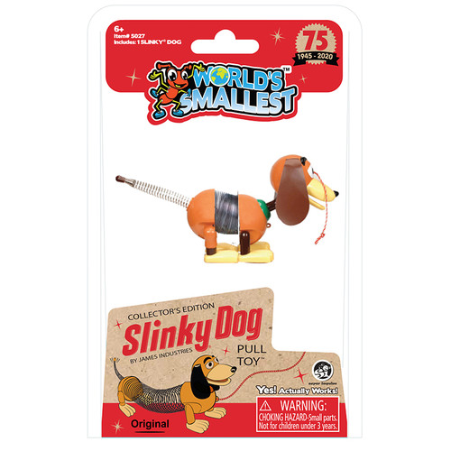 World's Smallest Slinky Dog Pull Toy Super Impulse