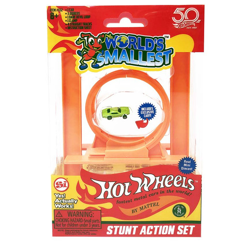 Collectable World's Smallest Hot Wheels Stunt Action Set