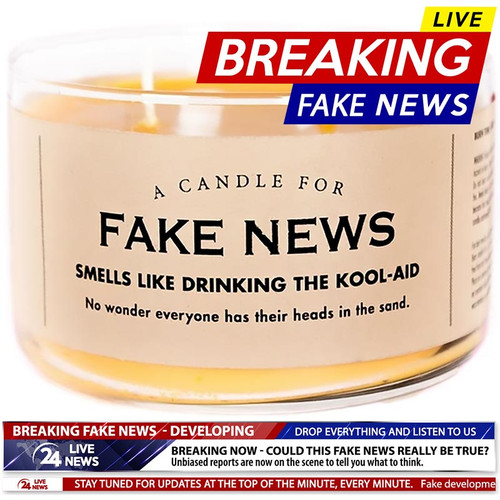 Fake News Candle - Purchase at Perpetual Kid