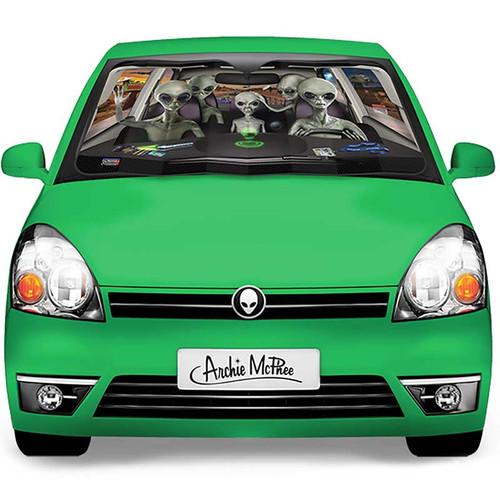 Car Full Of Aliens Auto Sunshade