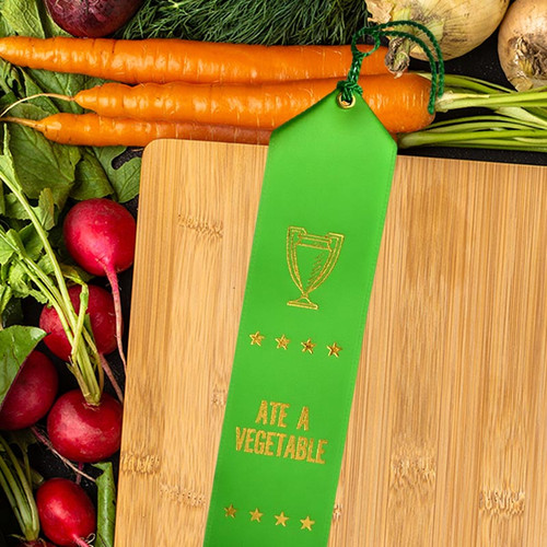 Ate A Vegetable Award Ribbon