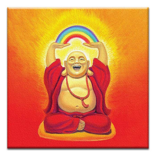Have a Buddha-Full Day! Canvas Art Hanging Greeting Card