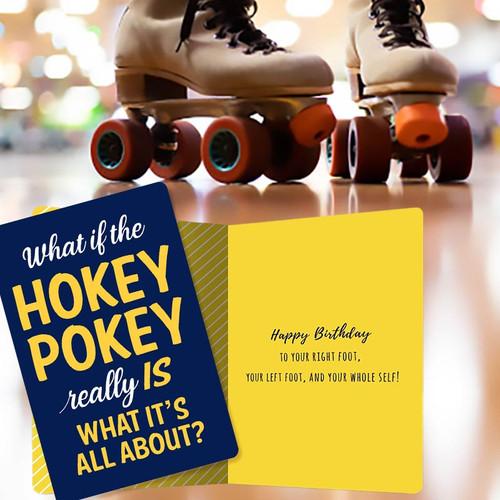 Hokey Pokey Birthday Party Card