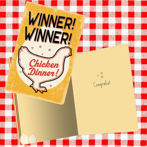 Winner Winner Chicken Dinner Congratulations Card
