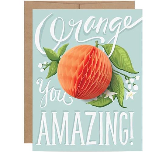 Orange You Amazing Pop-up Greeting Card