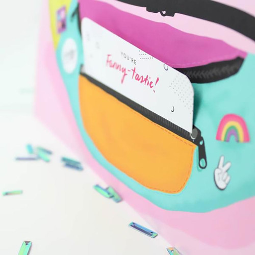 Fanny Pack Greeting + Money Holder Card