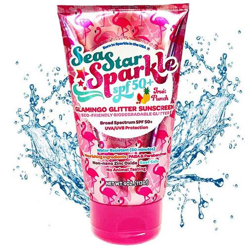 Reef Safe Biodegradable Glamingo Fruit Punch Scented Glitter Sunscreen