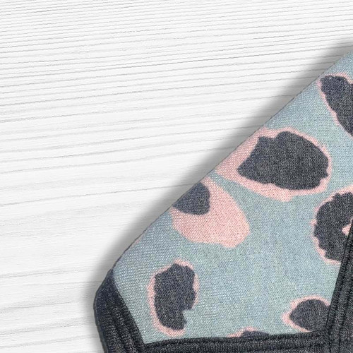 Soft Touch True Blue Leopard Face Mask - Purchase now