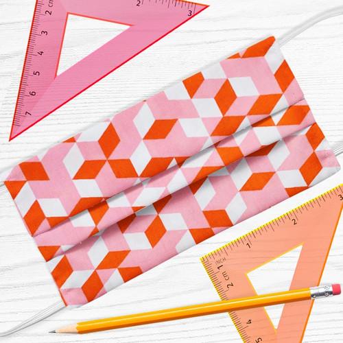 Face Mask Geometric Cubes