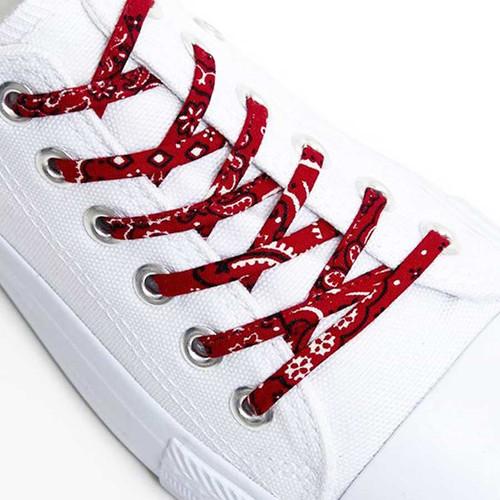Red Classic Bandana Shoelaces _ Buy Online