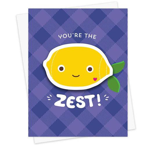 You're The Zest Sticker Friendship Card