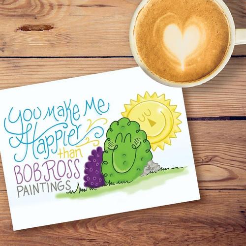 Happy Little Bush Greeting Card