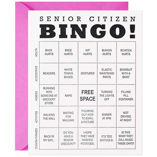 Senior Citizen Bingo Birthday Greeting Card
