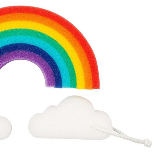 Gift For Rainbow Lovers   Rainbow Bath Sponge Set