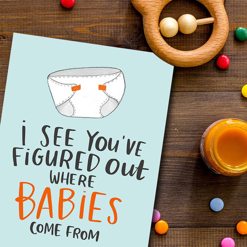 Funny New Baby Congratulations Greeting Card