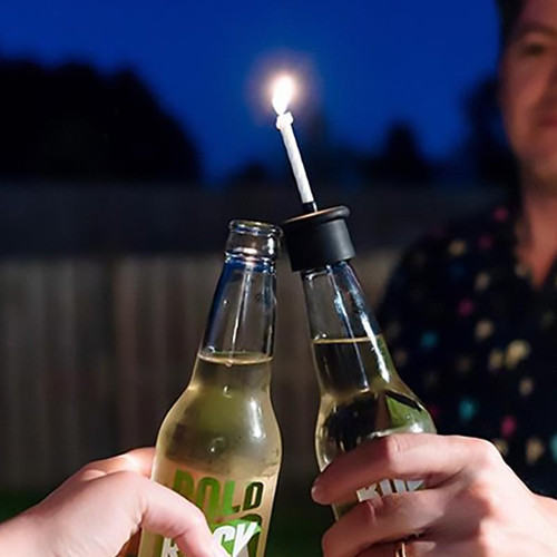 Bottle Top Birthday Candle by Skumps