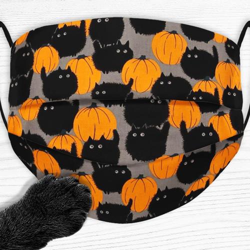 Big Kitty Pumpkin Face Mask