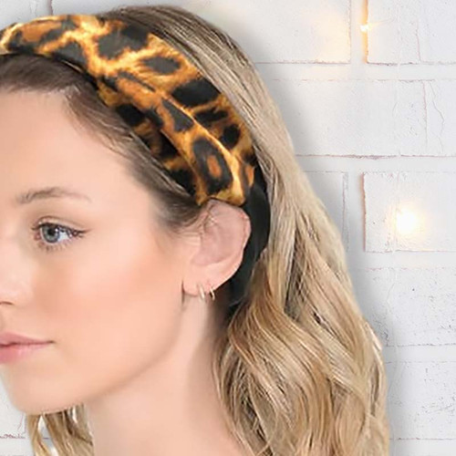 Headband Face Mask with Leopard Print