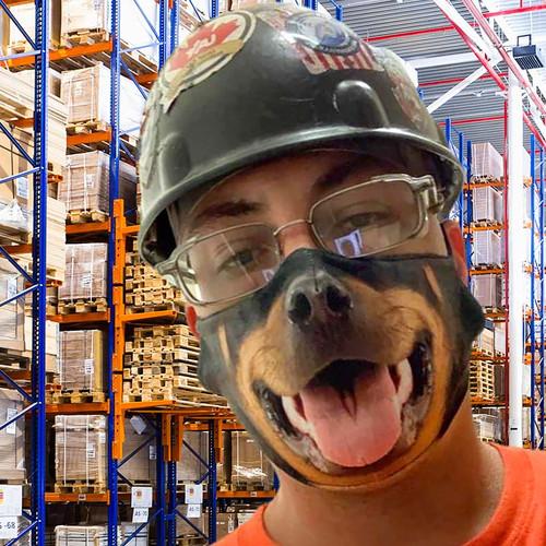 Realistic Dog Face Mask