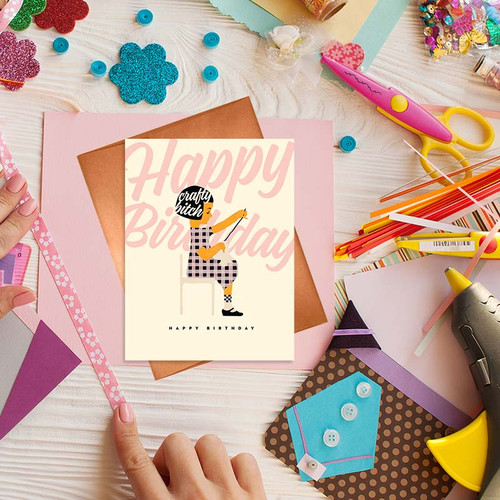 Happy Birthday Card For Crafty Ladies