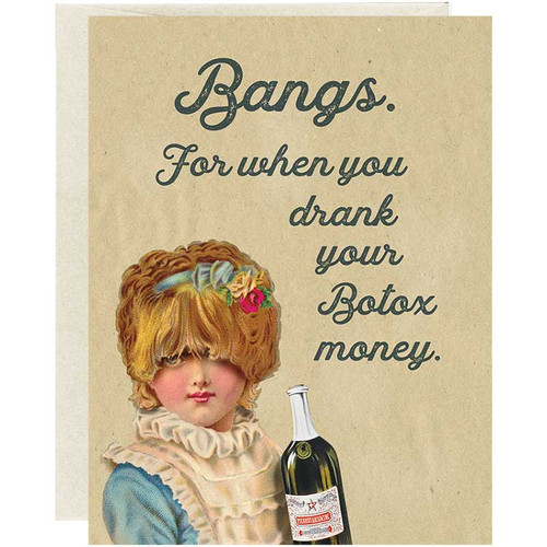Funny Botox Greeting Card for Friends
