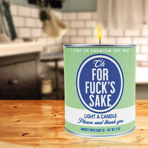 Swearing - Oh, For Fuck's Sake Paint Can Candle