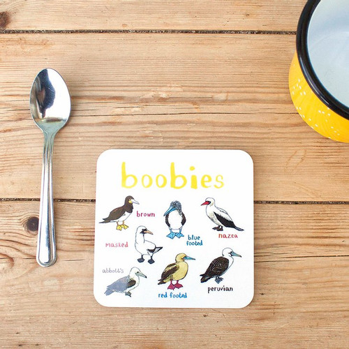 Boobies Fowl Bird Coaster