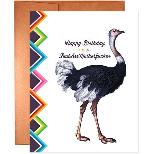 Happy Birthday To A Badass MoFo Card