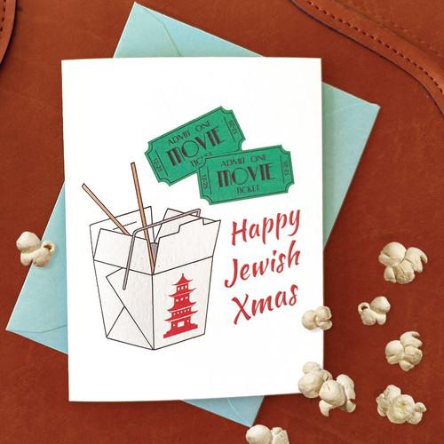 Happy Jewish X-mas Hanukkah Card