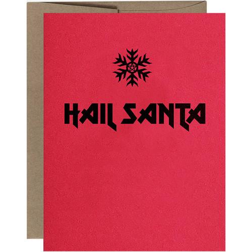 Hail Santa Christmas Card