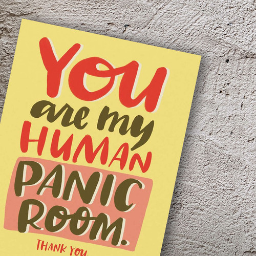 Thank You For Being There Panic Room Card