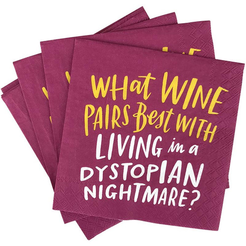 Wine Dystopia Cocktail Party Napkins