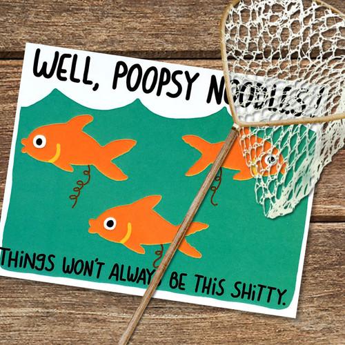 Funny Fish Poop Card