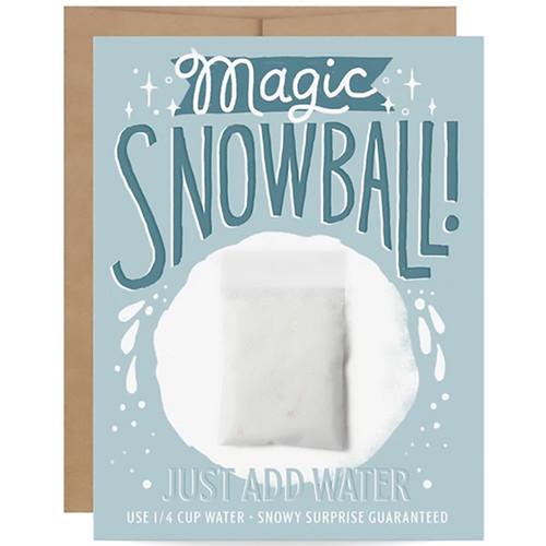 Magic Snowball Card - Instant Snow Stocking Stuffer