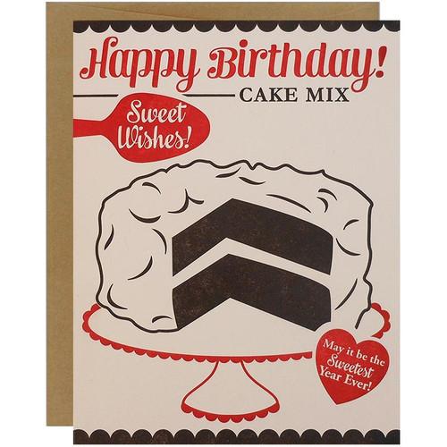 Retro Cakebox Happy Birthday Card